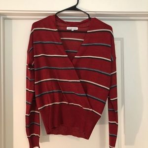 Heartloom read striped sweater